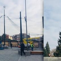 """FOTO: Se lucrează intens în centrul Râmnicului pentru """"Decembrie Magic"""""""