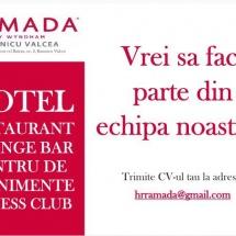 Hotel Ramada din Râmnicu Vâlcea angajează personal
