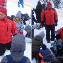 FOTO: Salvamontiștii vâlceni, lecții pe pârtia de la Transalpina despre cum să supraviețuiești la munte în caz de avalanșă