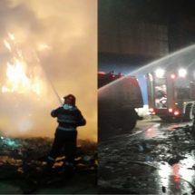 FOTO-VIDEO. Urban respectă doar legea gravitației. Recidivă de incendiu la Râmnicu Vâlcea
