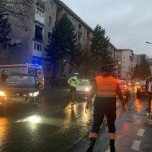 FOTO. ACCIDENT pe str. Matei Basarab din RÂMNICU VÂLCEA