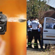 INCIDENT GRAV în VÂLCEA. Bărbat împuşcat după ce a ameninţat oamenii legii cu un topor şi o sticlă de benzină incendiată