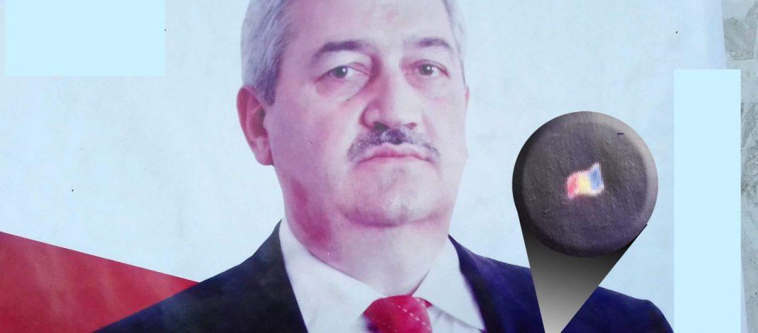 Primarul Sărdărescu, gafă uluitoare. Drapelul național pus anapoda
