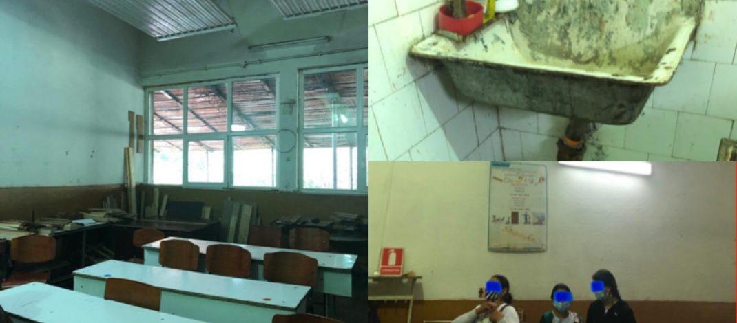 FOTO. Elevi cu nevoi speciale din Vâlcea, puși să învețe în condiții mizerabile